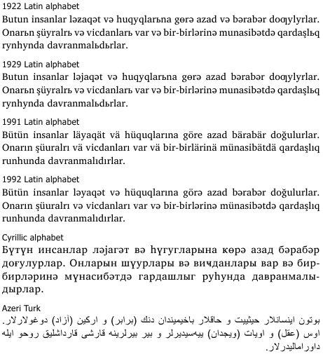 [4] アゼルバイジャン語入力方法 テキストはキーボードをアゼルバイジャン語